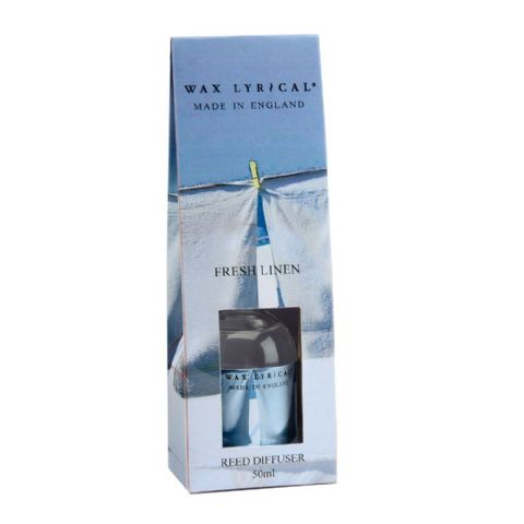 Fresh Linen Fragranced Mini Reed Diffuser Made In England Wax Lyrical 50ml